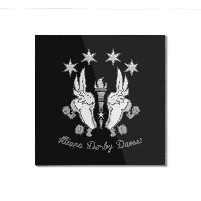 IDD logo Home Mounted Aluminum Print by Illiana Derby Dames's Team Merch Shop