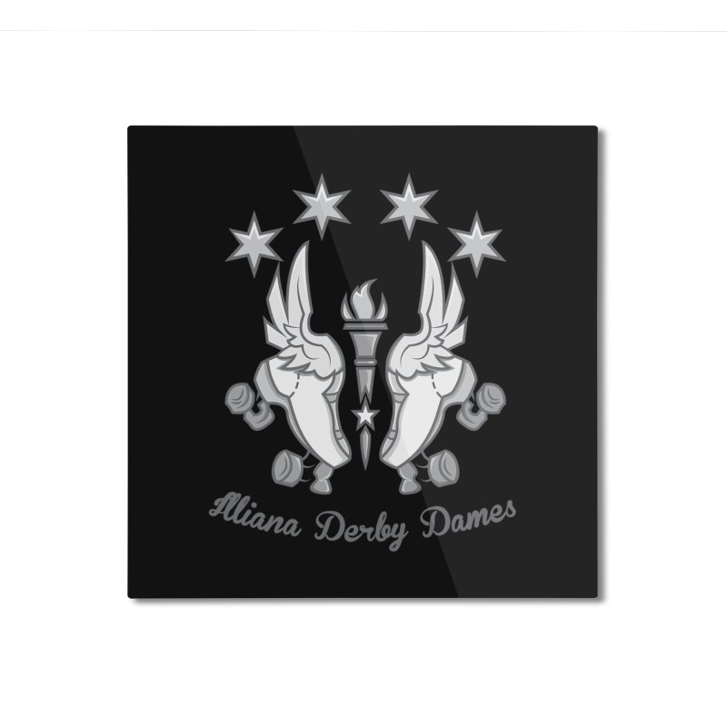 IDD logo Home Mounted Aluminum Print by Illiana Derby Dames's Team Merch Shop