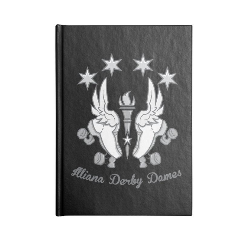 IDD logo Accessories Notebook by Illiana Derby Dames's Team Merch Shop