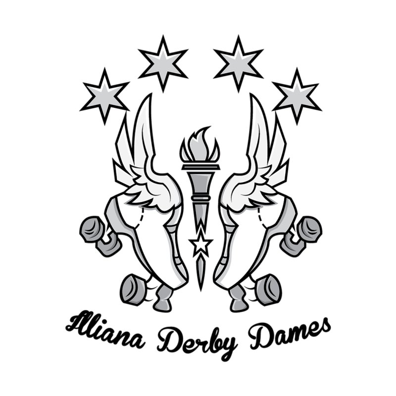 IDD logo with black letters by Illiana Derby Dames's Team Merch Shop