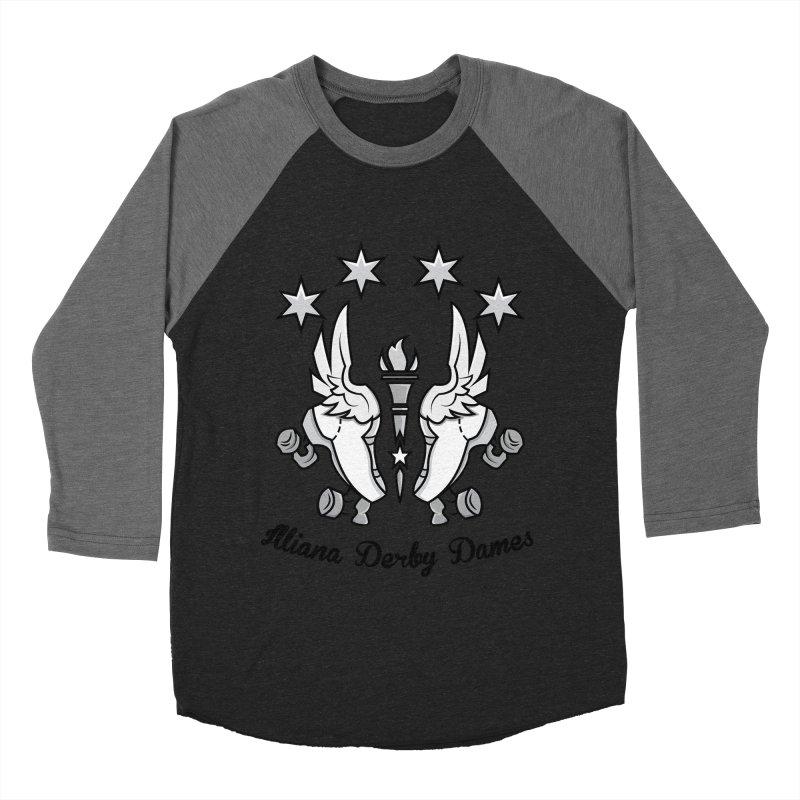IDD logo with black letters Women's Baseball Triblend Longsleeve T-Shirt by Illiana Derby Dames's Team Merch Shop