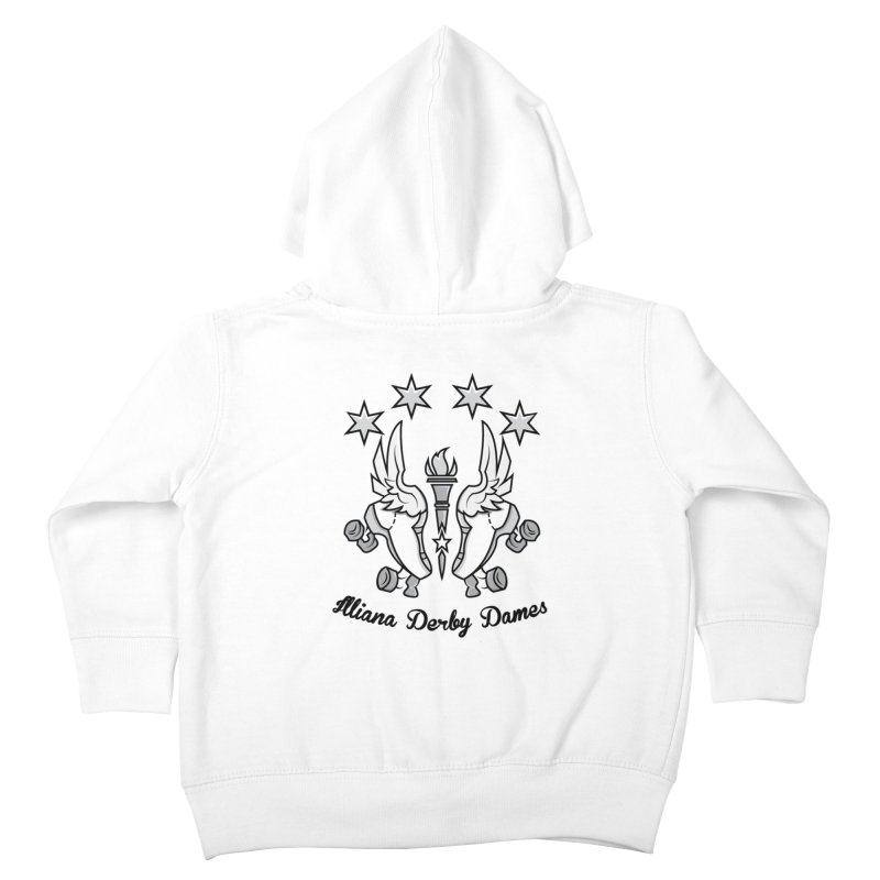 IDD logo with black letters Kids Toddler Zip-Up Hoody by Illiana Derby Dames's Team Merch Shop