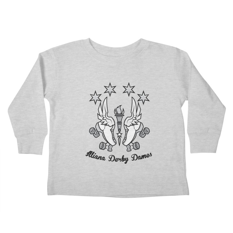 IDD logo with black letters Kids Toddler Longsleeve T-Shirt by Illiana Derby Dames's Team Merch Shop