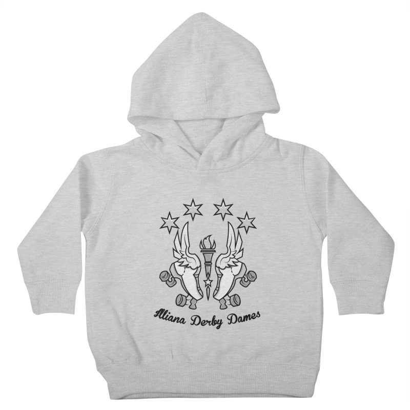 IDD logo with black letters Kids Toddler Pullover Hoody by Illiana Derby Dames's Team Merch Shop