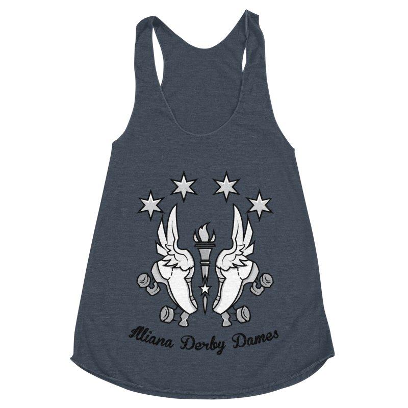 IDD logo with black letters Women's Racerback Triblend Tank by Illiana Derby Dames's Team Merch Shop