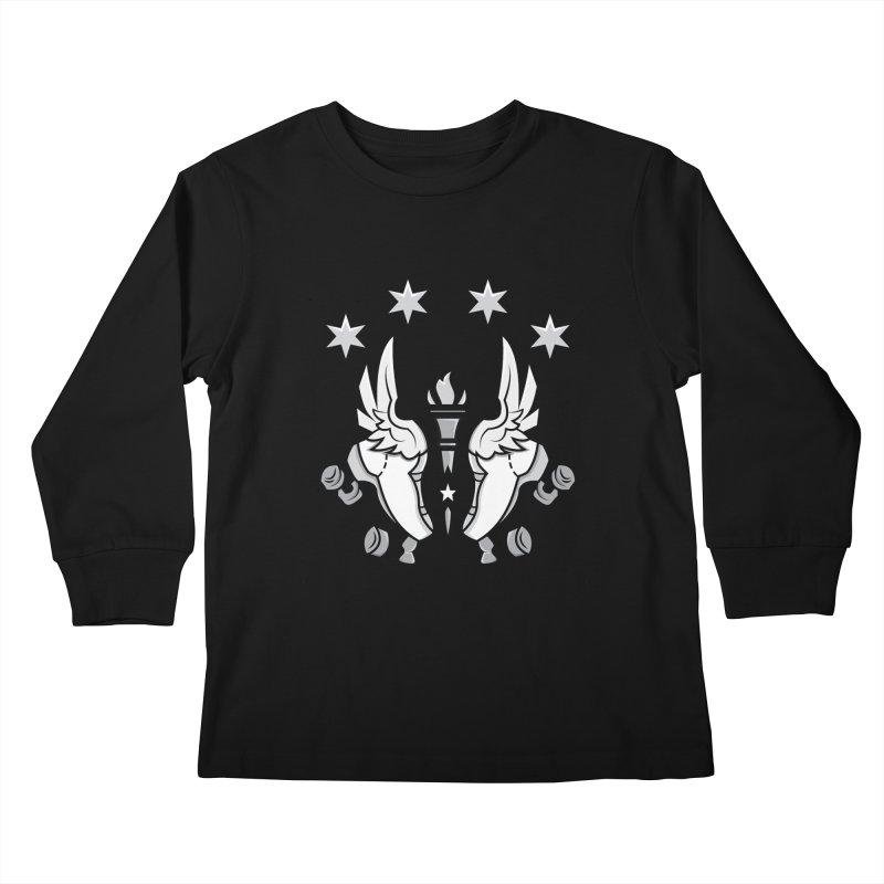 IDD logo with black letters Kids Longsleeve T-Shirt by Illiana Derby Dames's Team Merch Shop