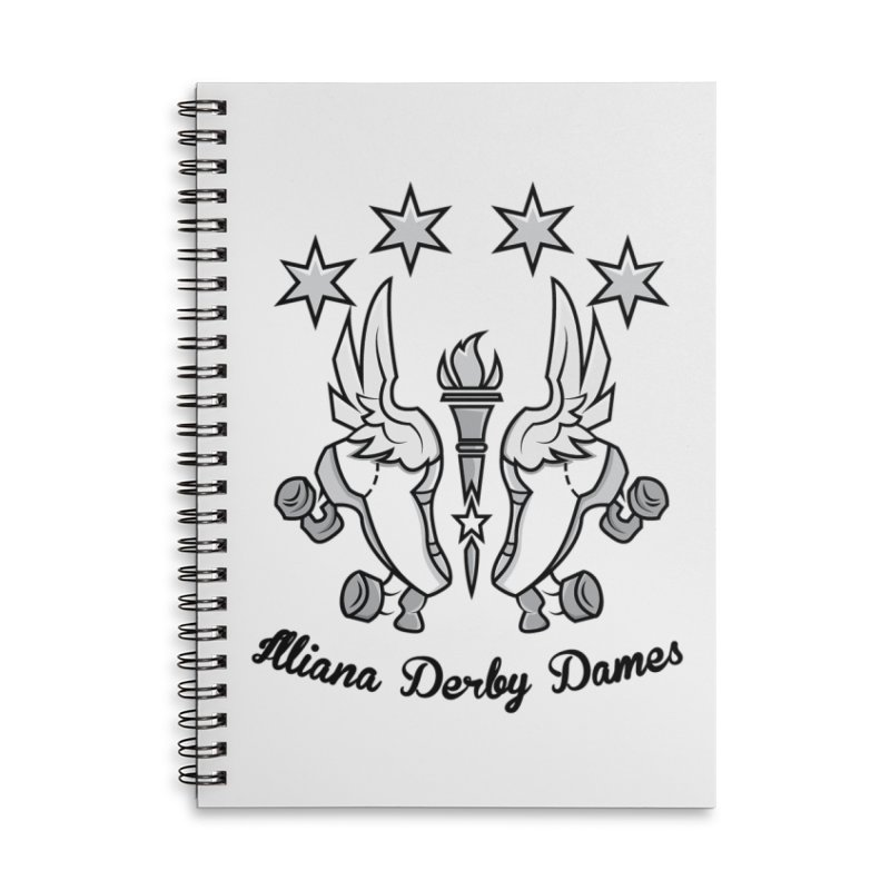 IDD logo with black letters Accessories Lined Spiral Notebook by Illiana Derby Dames's Team Merch Shop