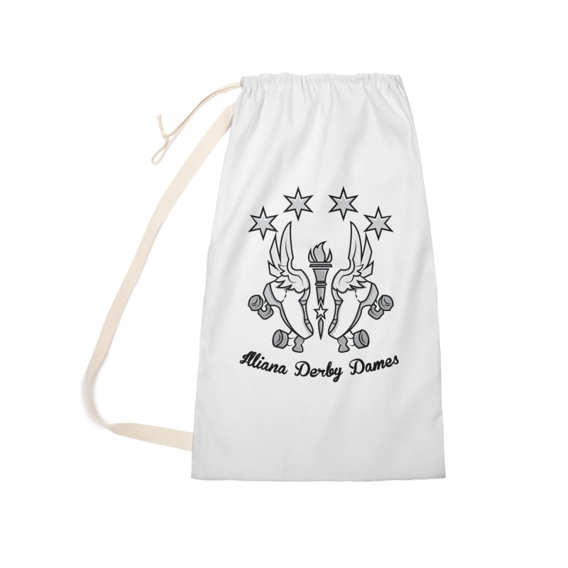 IDD logo with black letters Accessories Laundry Bag Bag by Illiana Derby Dames's Team Merch Shop