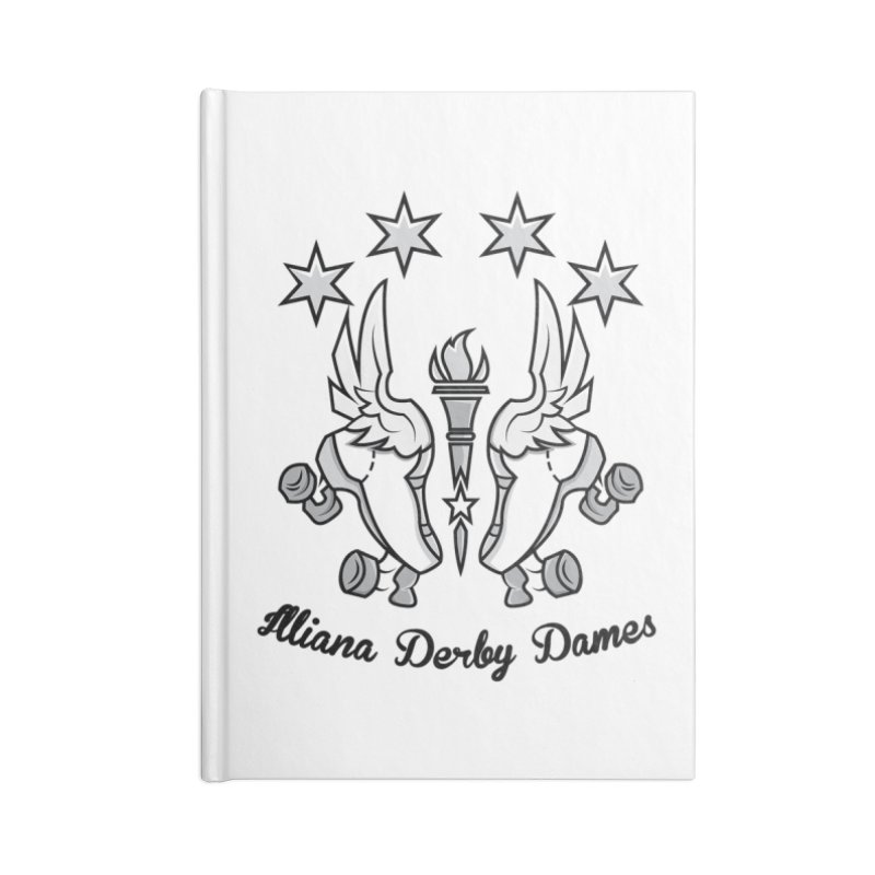 IDD logo with black letters Accessories Lined Journal Notebook by Illiana Derby Dames's Team Merch Shop