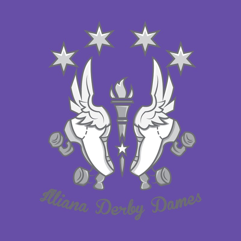 Logo with grey lettering   by Illiana Derby Dames's Team Merch Shop