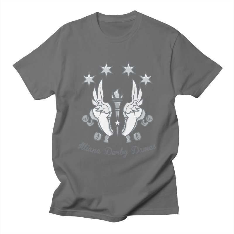 Logo with grey lettering Men's T-Shirt by Illiana Derby Dames's Team Merch Shop