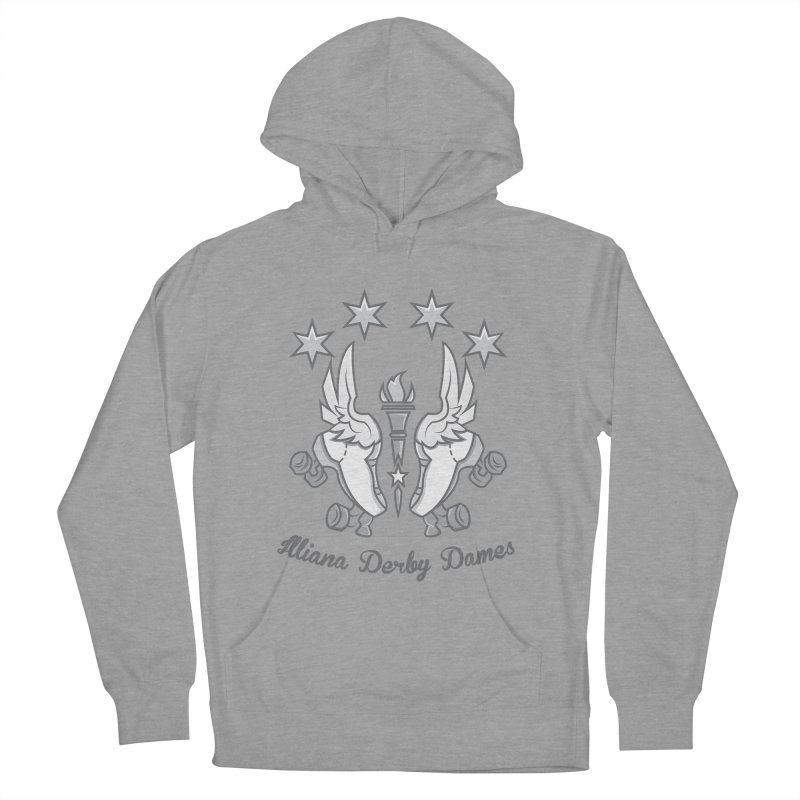 Logo with grey lettering Men's French Terry Pullover Hoody by Illiana Derby Dames's Team Merch Shop