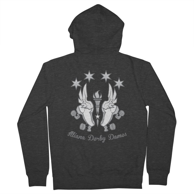 Logo with grey lettering Men's French Terry Zip-Up Hoody by Illiana Derby Dames's Team Merch Shop