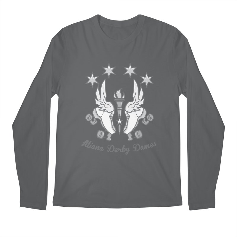Logo with grey lettering Men's Regular Longsleeve T-Shirt by Illiana Derby Dames's Team Merch Shop