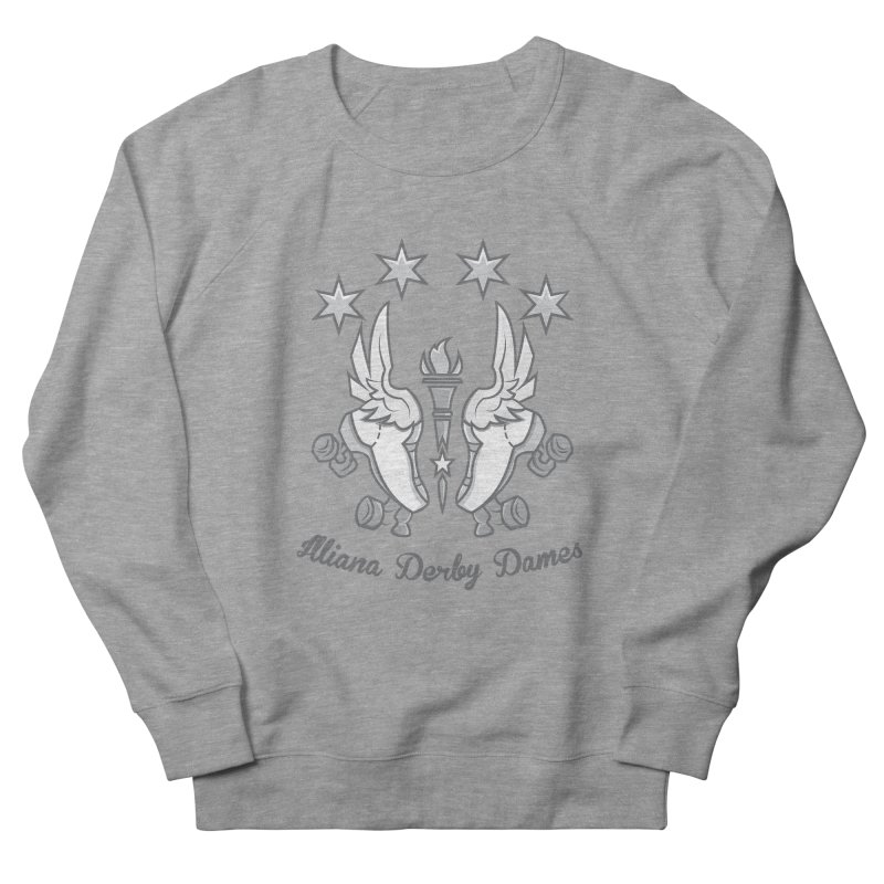 Logo with grey lettering Men's French Terry Sweatshirt by Illiana Derby Dames's Team Merch Shop