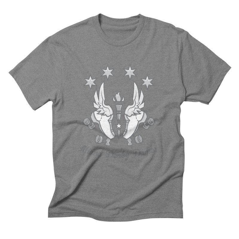 Logo with grey lettering Men's Triblend T-Shirt by Illiana Derby Dames's Team Merch Shop