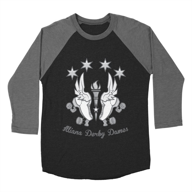 Logo with grey lettering Women's Baseball Triblend T-Shirt by Illiana Derby Dames's Team Merch Shop