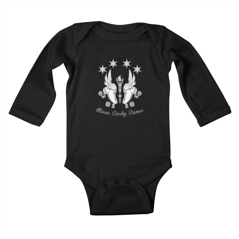 Logo with grey lettering Kids Baby Longsleeve Bodysuit by Illiana Derby Dames's Team Merch Shop