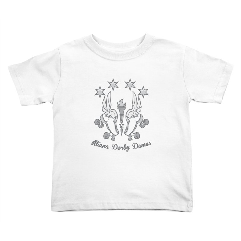 Logo with grey lettering Kids Toddler T-Shirt by Illiana Derby Dames's Team Merch Shop