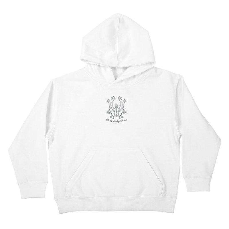 Logo with grey lettering Kids Pullover Hoody by Illiana Derby Dames's Team Merch Shop