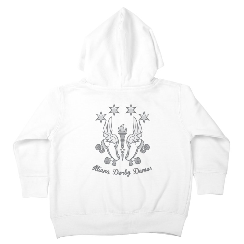 Logo with grey lettering Kids Toddler Zip-Up Hoody by Illiana Derby Dames's Team Merch Shop