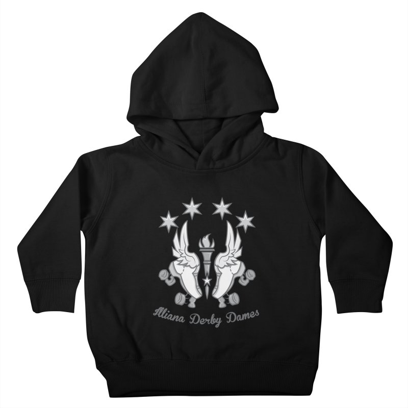 Logo with grey lettering Kids Toddler Pullover Hoody by Illiana Derby Dames's Team Merch Shop
