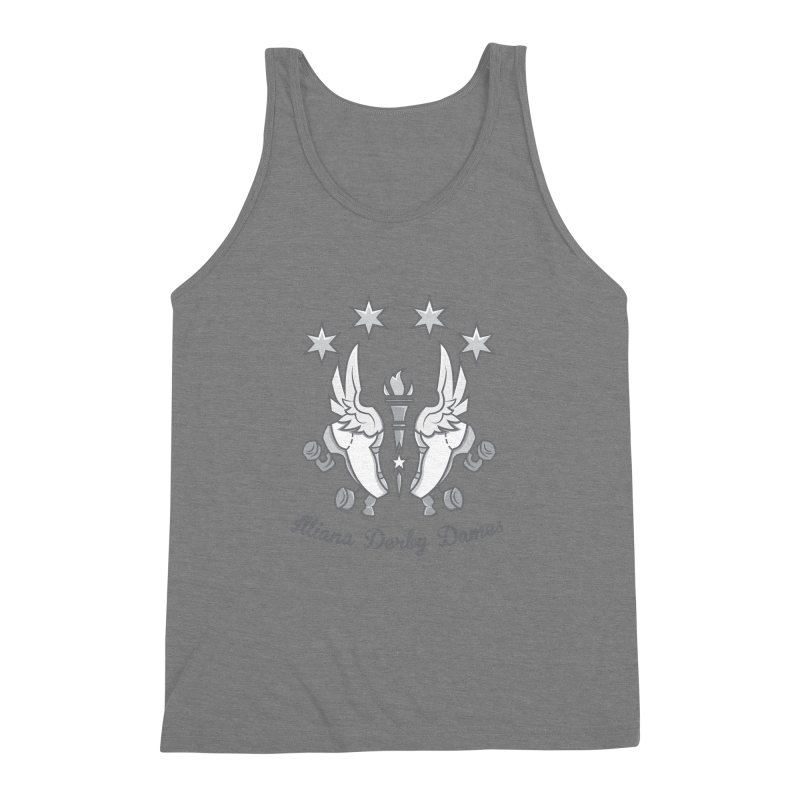 Logo with grey lettering Men's Triblend Tank by Illiana Derby Dames's Team Merch Shop