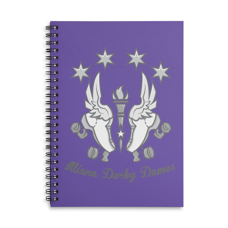 Logo with grey lettering Accessories Lined Spiral Notebook by Illiana Derby Dames's Team Merch Shop