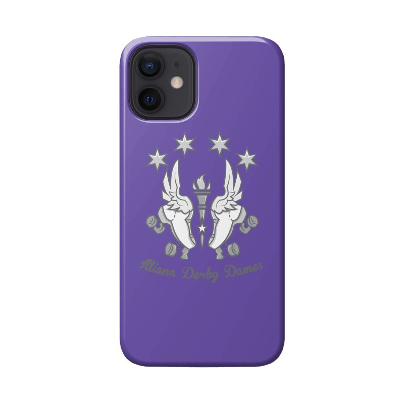 Logo with grey lettering Accessories Phone Case by Illiana Derby Dames's Team Merch Shop