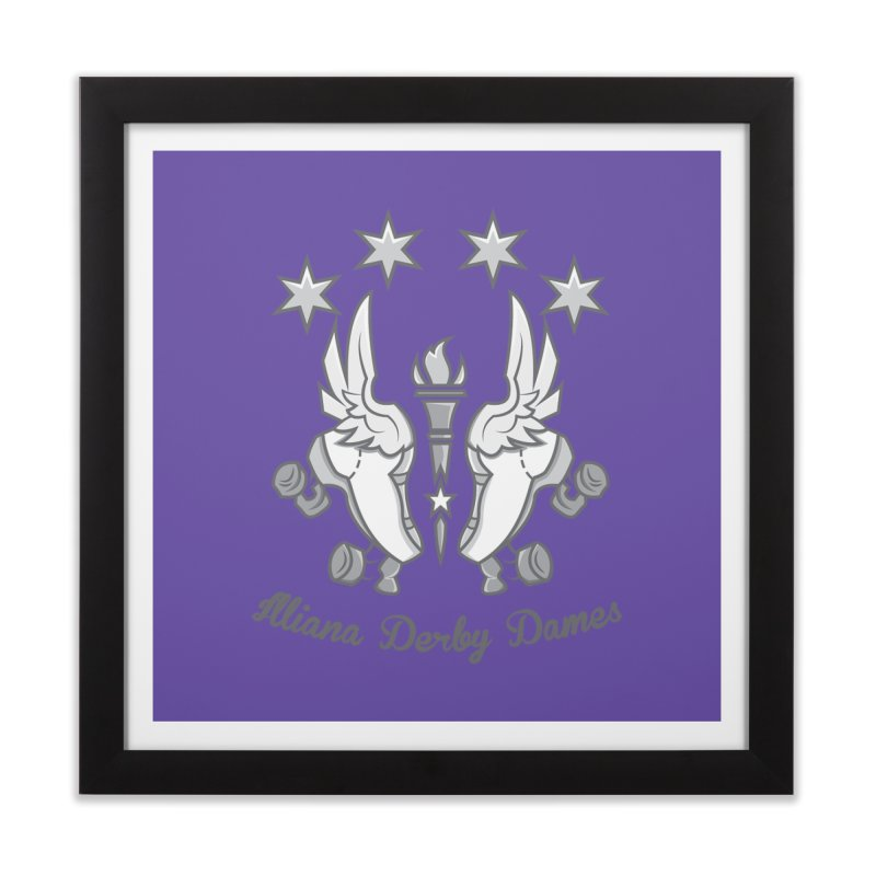 Logo with grey lettering Home Framed Fine Art Print by Illiana Derby Dames's Team Merch Shop