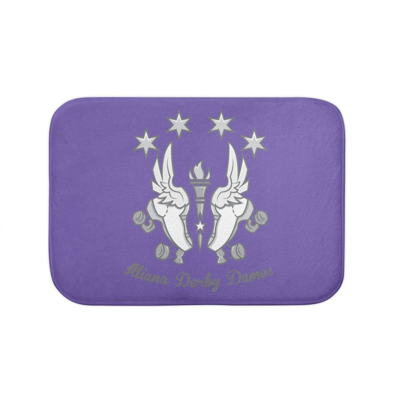 Logo with grey lettering Home Bath Mat by Illiana Derby Dames's Team Merch Shop