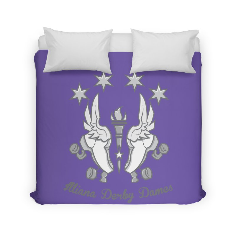 Logo with grey lettering Home Duvet by Illiana Derby Dames's Team Merch Shop