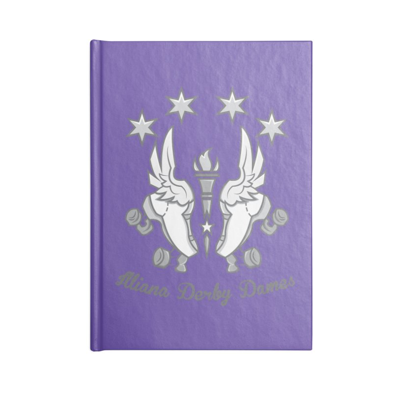 Logo with grey lettering Accessories Notebook by Illiana Derby Dames's Team Merch Shop