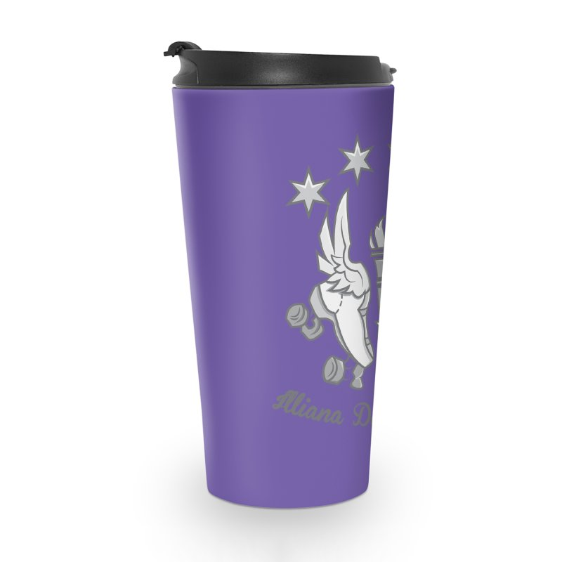 Logo with grey lettering Accessories Travel Mug by Illiana Derby Dames's Team Merch Shop