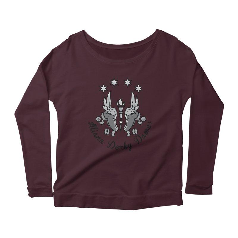 Dark logo Women's Scoop Neck Longsleeve T-Shirt by Illiana Derby Dames's Team Merch Shop