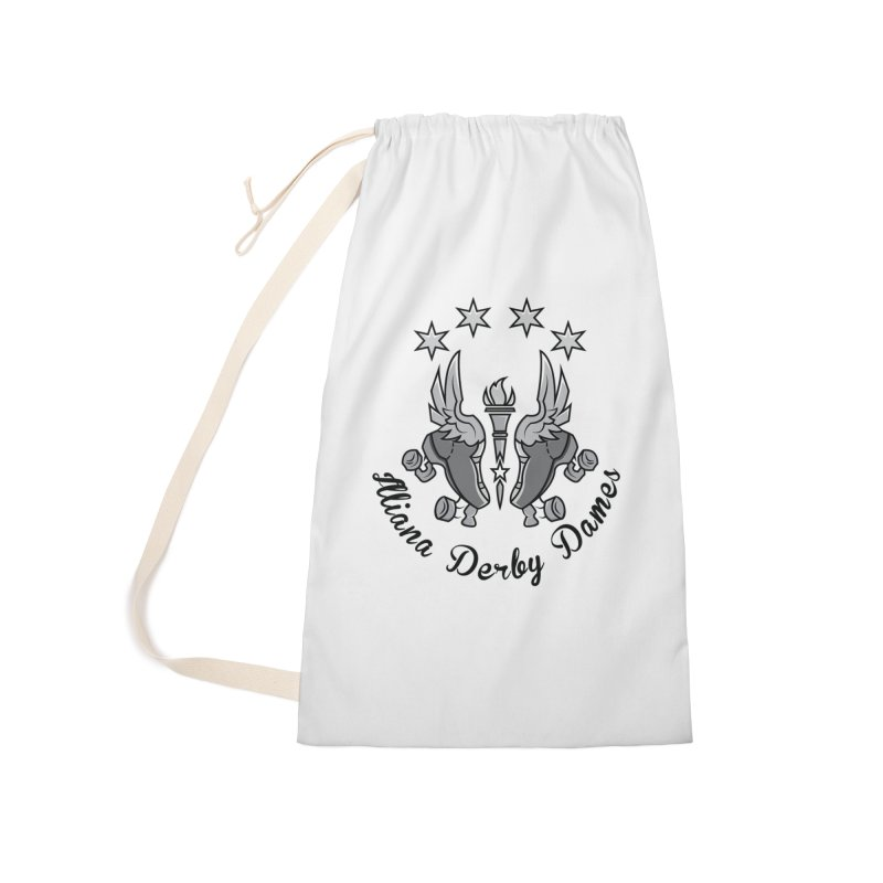 Dark logo Accessories Laundry Bag Bag by Illiana Derby Dames's Team Merch Shop