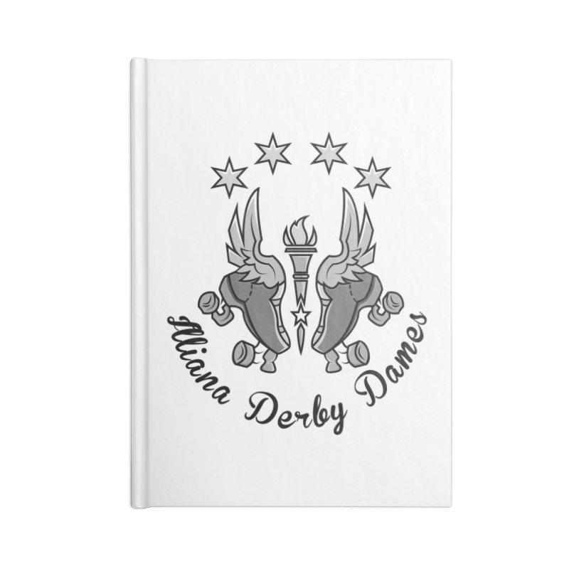 Dark logo Accessories Notebook by Illiana Derby Dames's Team Merch Shop