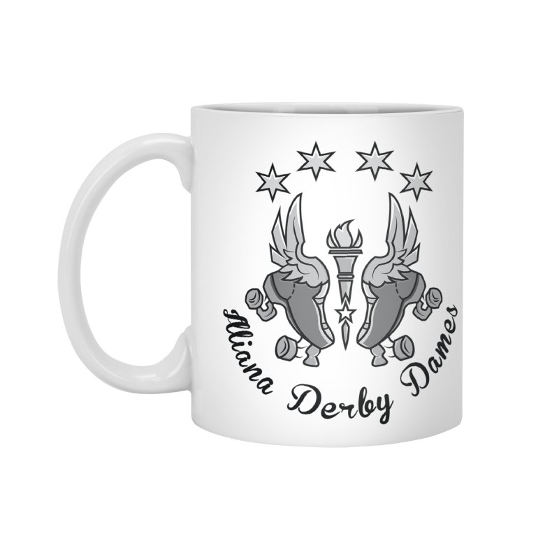 Dark logo Accessories Mug by Illiana Derby Dames's Team Merch Shop
