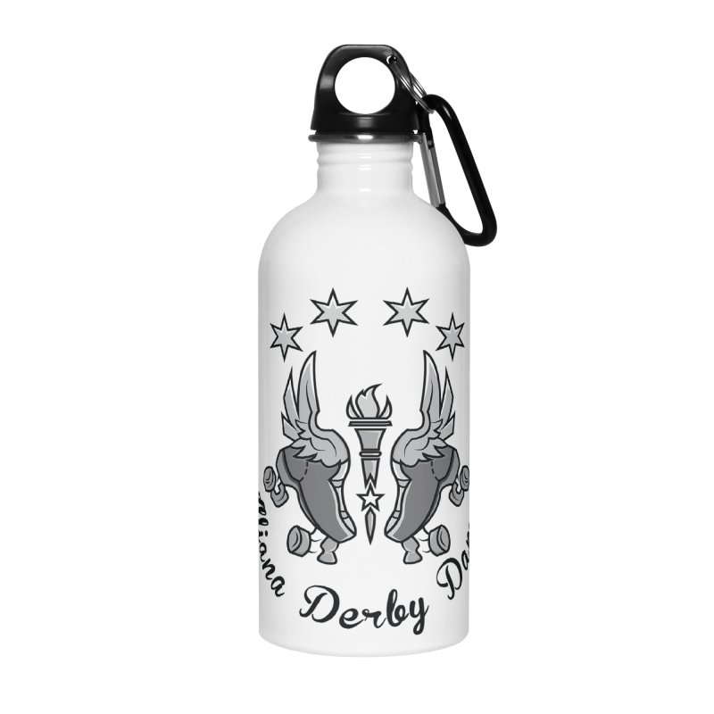 Dark logo Accessories Water Bottle by Illiana Derby Dames's Team Merch Shop