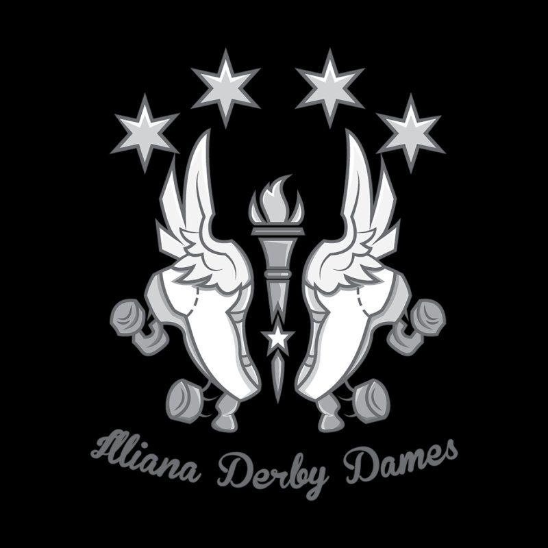 logo black background and light letters by Illiana Derby Dames's Team Merch Shop