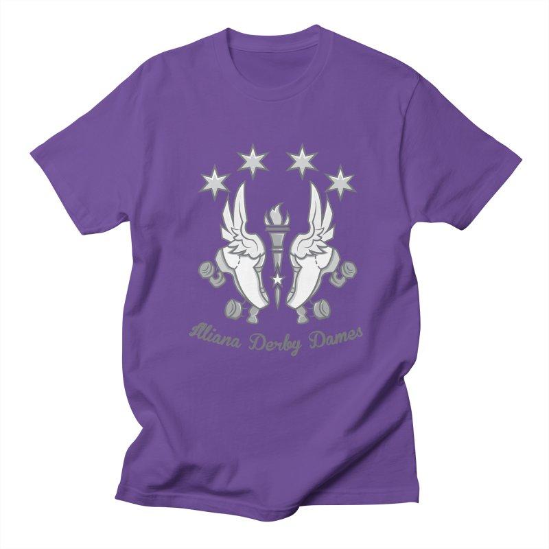 logo black background and light letters Men's Regular T-Shirt by Illiana Derby Dames's Team Merch Shop