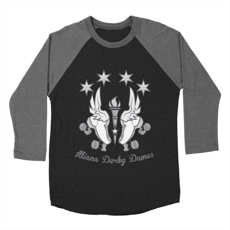 logo black background and light letters Women's Baseball Triblend Longsleeve T-Shirt by Illiana Derby Dames's Team Merch Shop