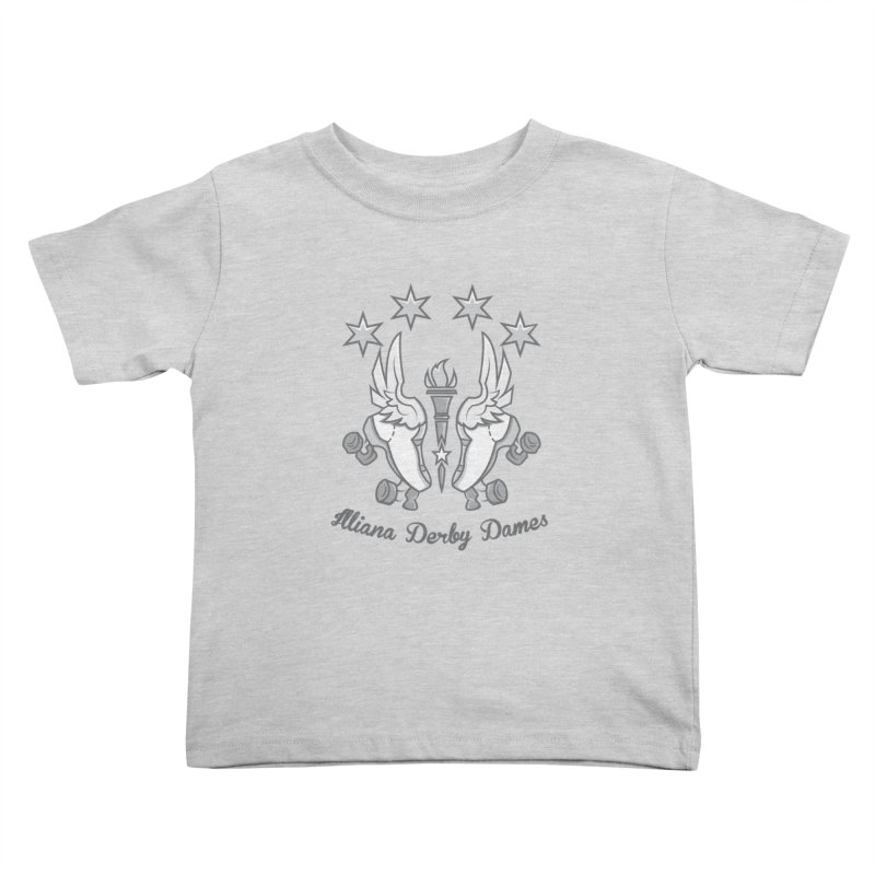 logo black background and light letters Kids Toddler T-Shirt by Illiana Derby Dames's Team Merch Shop