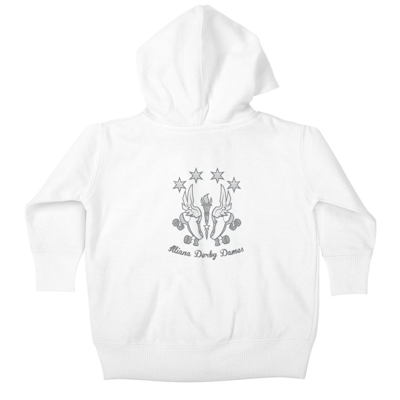 logo black background and light letters Kids Baby Zip-Up Hoody by Illiana Derby Dames's Team Merch Shop