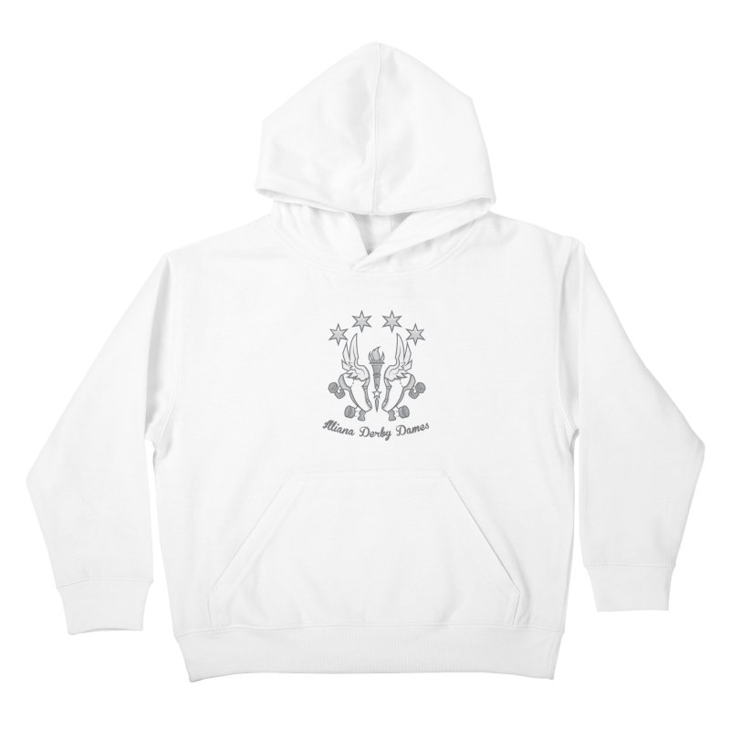 logo black background and light letters Kids Pullover Hoody by Illiana Derby Dames's Team Merch Shop