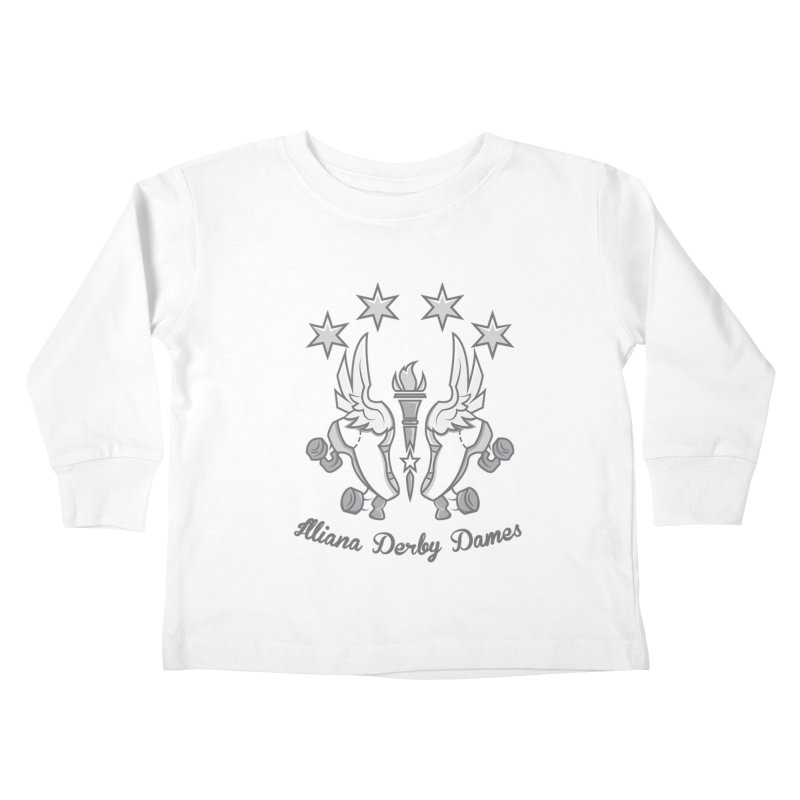 logo black background and light letters Kids Toddler Longsleeve T-Shirt by Illiana Derby Dames's Team Merch Shop
