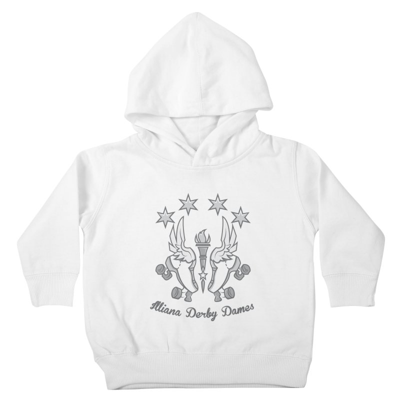 logo black background and light letters Kids Toddler Pullover Hoody by Illiana Derby Dames's Team Merch Shop