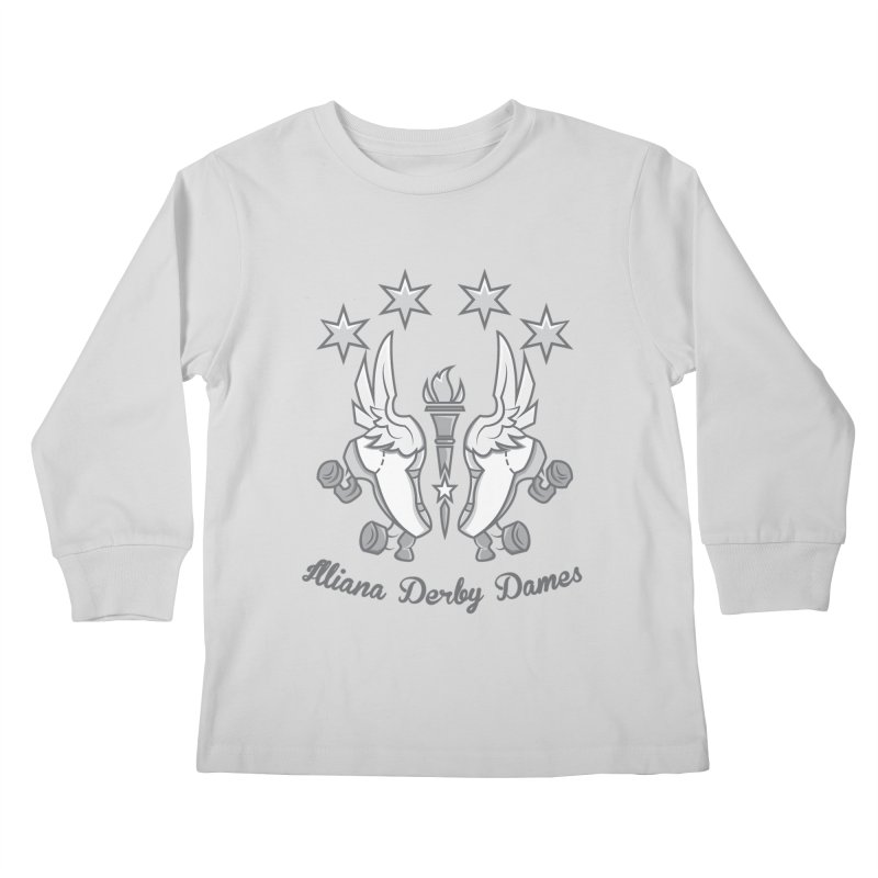 logo black background and light letters Kids Longsleeve T-Shirt by Illiana Derby Dames's Team Merch Shop