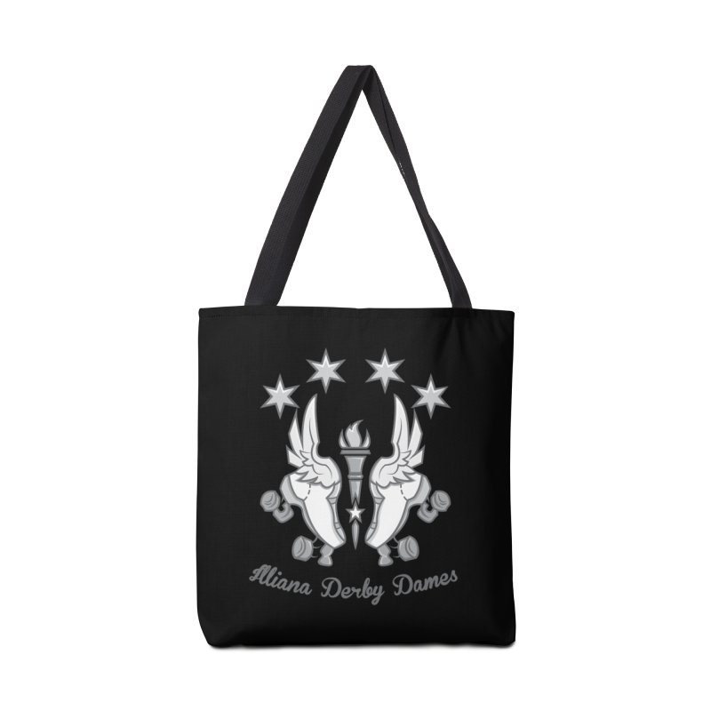 logo black background and light letters Accessories Tote Bag Bag by Illiana Derby Dames's Team Merch Shop