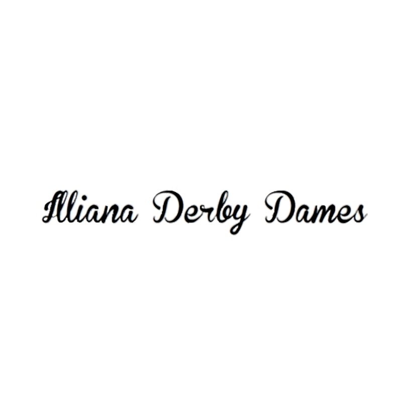 Black IDD script Accessories Phone Case by Illiana Derby Dames's Team Merch Shop